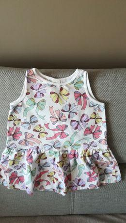 H&m letnia sukienka dla dziewczynki w rozmiarze 74