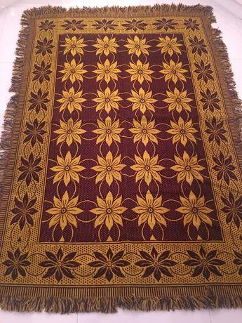 Welniana kapa narzuta dywan starodawna rękodzielo