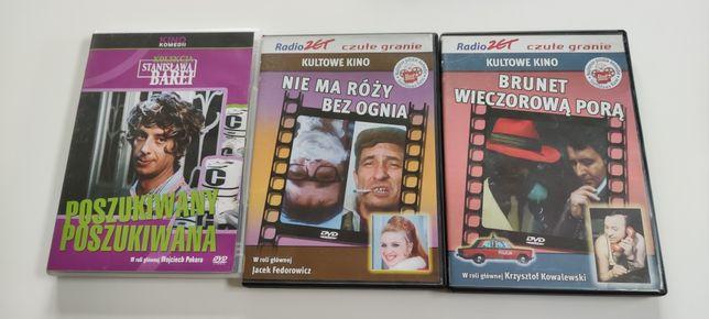Zestaw Polskich filmów DVD Poszukiwany poszukiwana Brunet wieczorową
