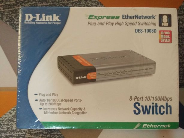 D-Link DES-1008D Switch 8 port 10/100Mbps
