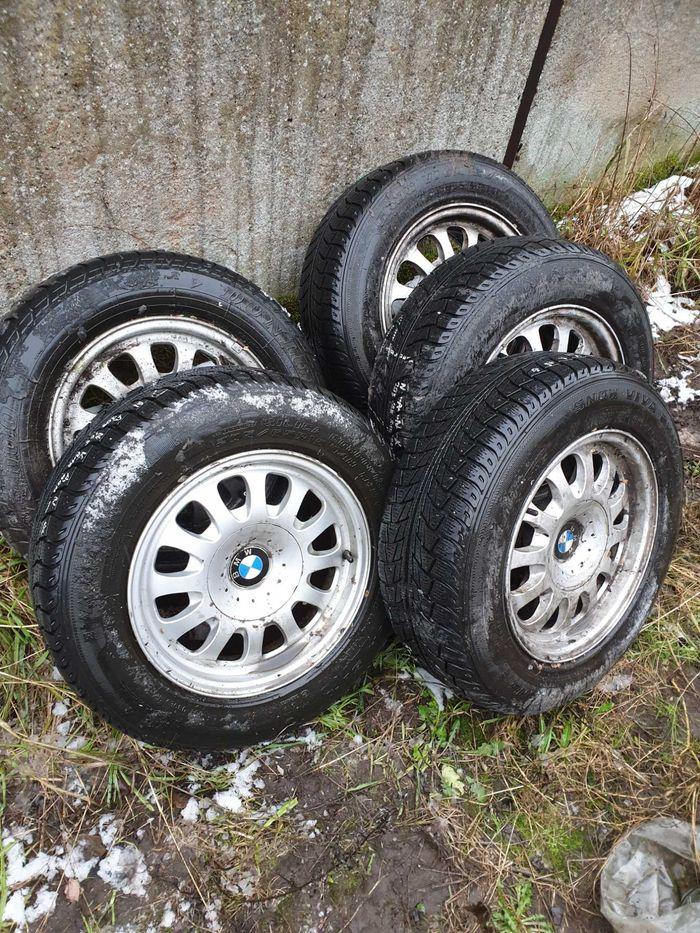Alu felgi BMW e36 e39 e46 seria3 i 5komplet 5 sztuk z oponami zimowymi Szczecin - image 1