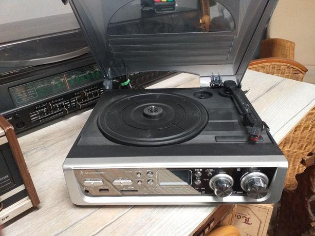 Gramofon Soundmaster PL 520 z gniazdem USB / Radio / Karta SD