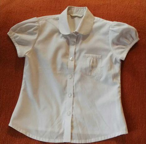 Koszula biała 122 krótki rękaw