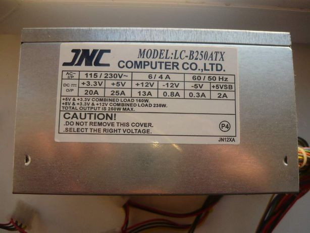 Блок питания JNC LC-B250ATX 250W  (