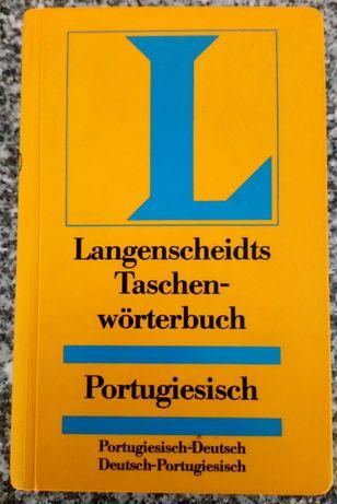Lote de gramática e dicionário de alemão