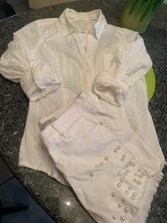 Biała sportowa koszula Guess r.S-M