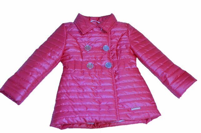 NOWY !!! Wiosenny  płaszcz pikowany różowy Roz. 104 PL