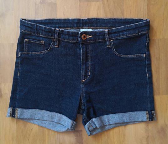 Krótkie spodenki, szorty jeansowe 164 H&M