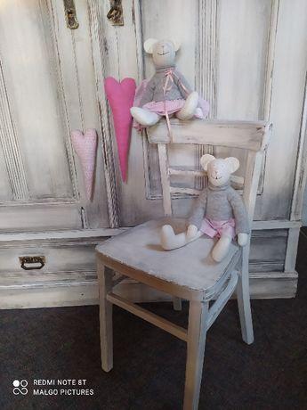 Krzesło do toaletki łazienki przedpokoju w stylu prowansalskim shabby