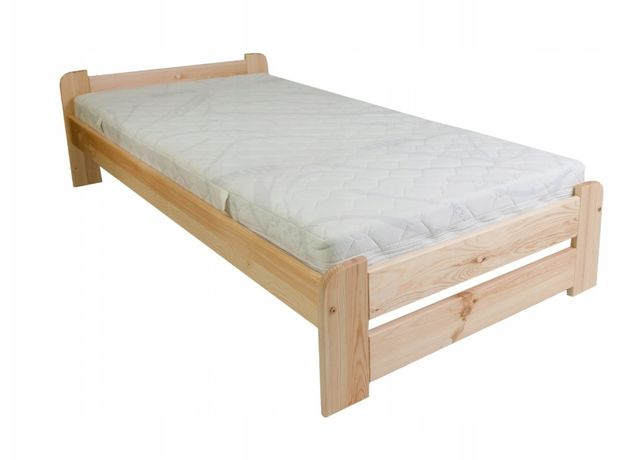 Łóżko 90x200 dąb orzech olcha jasna sosna lakierowane