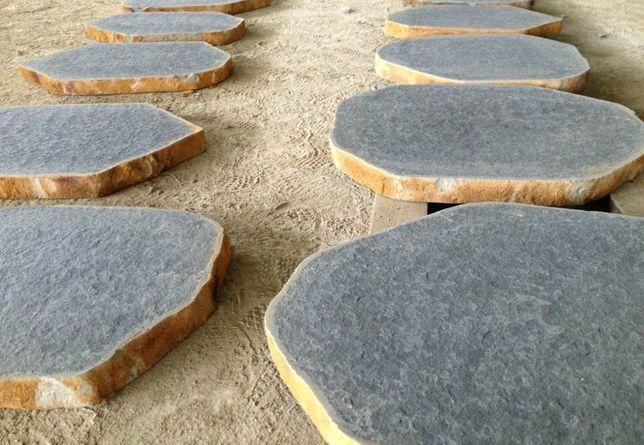 DUŻĘ PŁYTY BAZALTOWE na Ścieżkę w Ogrodzie Kamień Stepy Deptakowe Grys