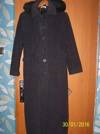 Długi wełniany płaszcz roz.M-L