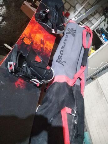 сноуборд rossignol+крепления+сумка