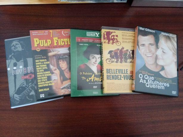 Conjunto de 3 DVDs (filmes e concerto)