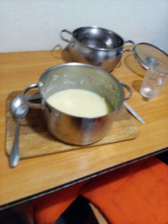 Крем суп Французский ресторан сделан поваром их Италии Алексей