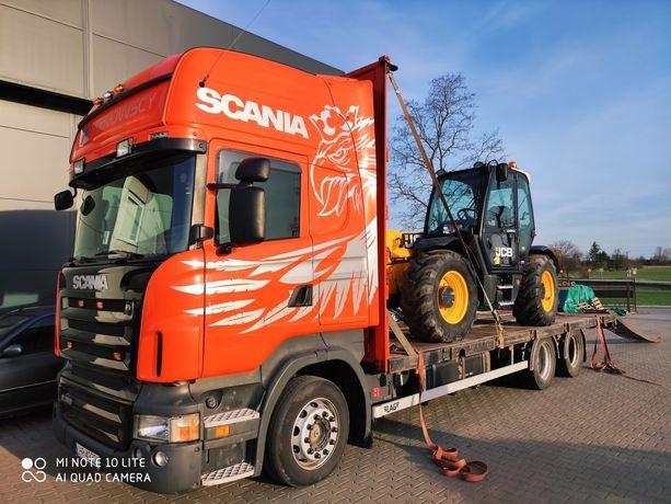 Transport ciągników maszyn rolniczych słomy laweta tandem