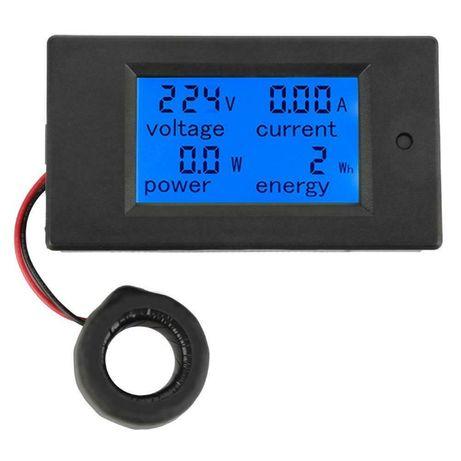 Medidor de Consumo Eléctrico Voltímetro Amperímetro LCD