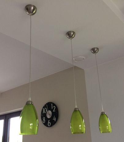 3 lampy zielone