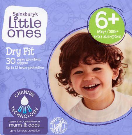 Памперси Sainsbury's Little Ones Dry Fit Size 6+