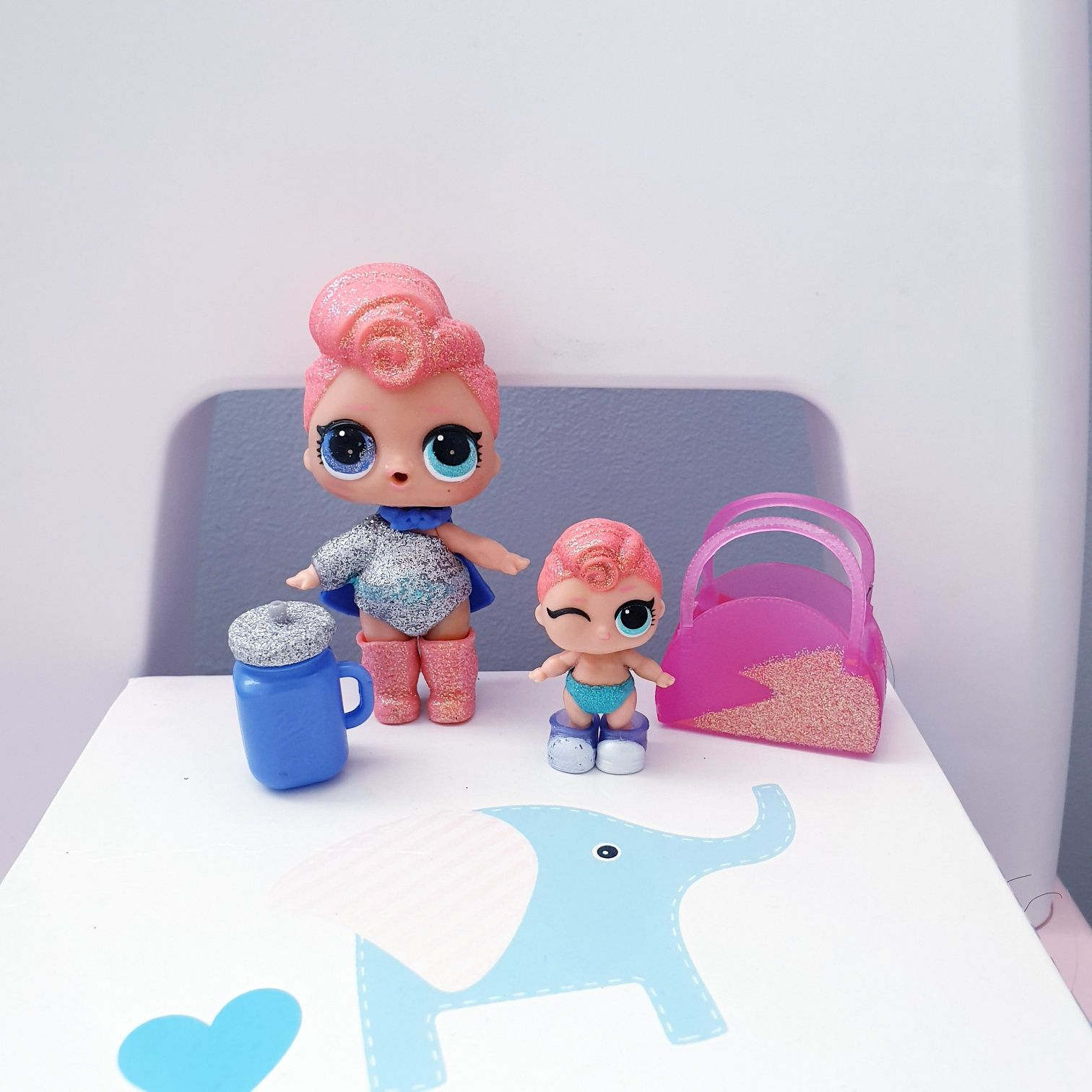 Rodzinka laleczek Lol brokatowa