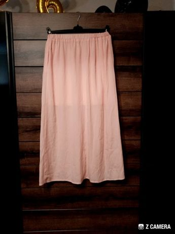 długa spódnica, różowa