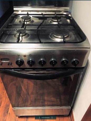 Kuchenka piekarnik gazowo elektryczny indesit inox