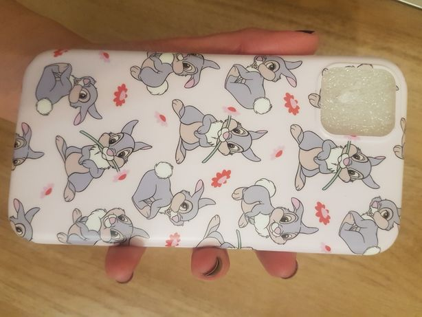 IPhone айфон 11 чехол с зайчиками кроликами розовый новый