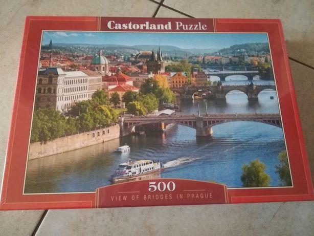 Nowe puzzle Castorland Mosty w Pradze Praga 500 elementów