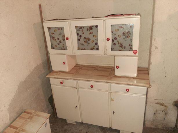 Kredens kuchenny PRL + szafka