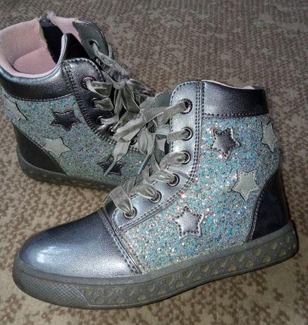 Dziewczęce Botki/ Trampki/ Buty. Zasuwane/ Sznurowane. 18,5cm