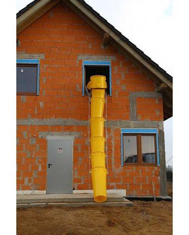 Zsyp budowlany do Gruzu Łask Drabina 3x15 12m Wypożyczalnia