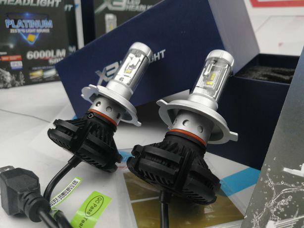 Светодиодные лампы Turbo LED X3 (H4, H11, H1, H7, H3) SALE!