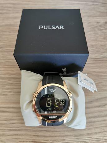 NOWYsportowy zegarek PULSAR złoty