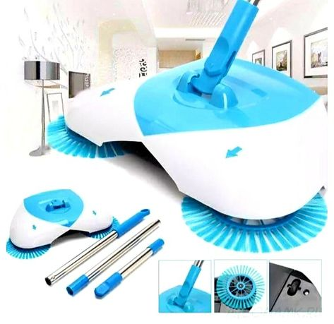 Механическая щётка- веник-швабра для уборки пола hurricane spin broom