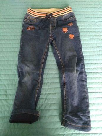 Spodnie chłopięce dżinsowe ocieplane