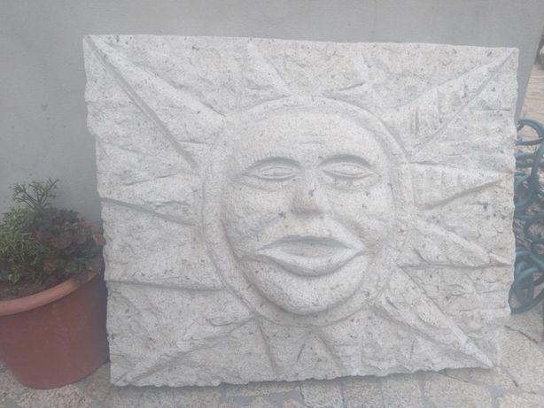 Decoração de jardim\casa estátua sol