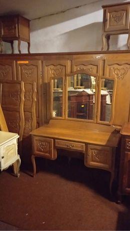 Stylowa sypialnia ludwik dębowa z Belgii