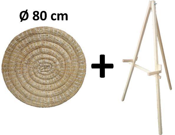 Mata łucznicza słomiana Ø 80 cm ze stojakiem