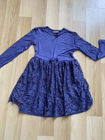 Sukienka elastyczna koronka r. 122cm