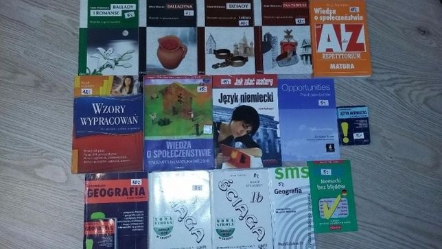 Książki, pomoce do matury