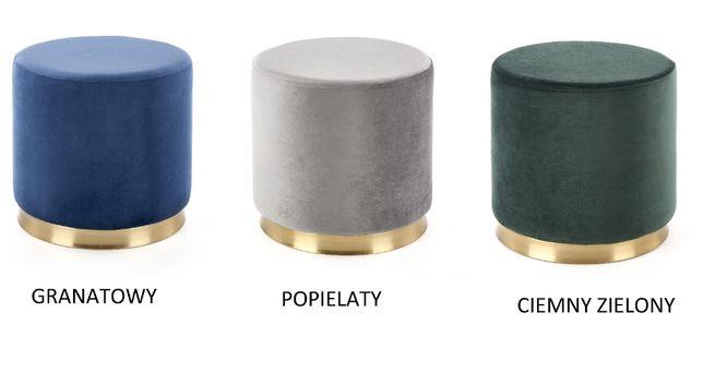 COVET/ PUFA SIEDZISKO miękka tkanina velvet / 3 kolory / 42x43 cm