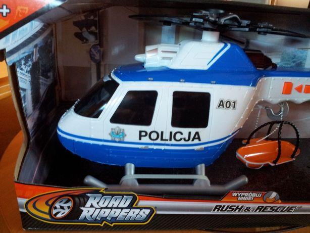 helikopter policyjny na baterie wydający dźwięki