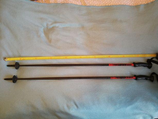 Kijki narciarskie EXEL 100 cm czarne 95 cm tanio czarno czerwone