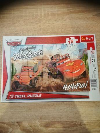 Puzzle Cars zygzak 15 el, gra +puzzle cars
