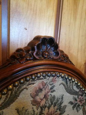 Antyk- stare bogato zdobione rzeźbione krzesło