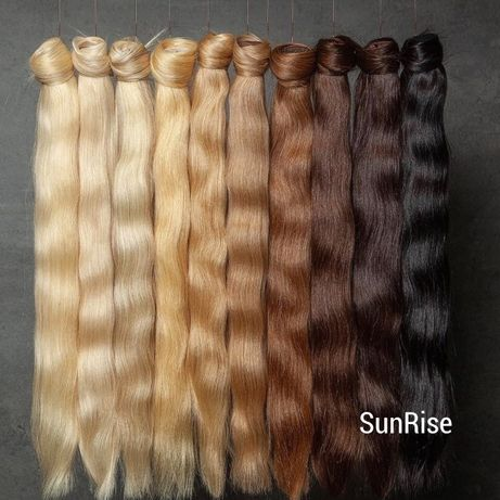 Kucyki Kitki na zapinkach - Włosy naturalne, słowiańskie 30 cm - 110 c