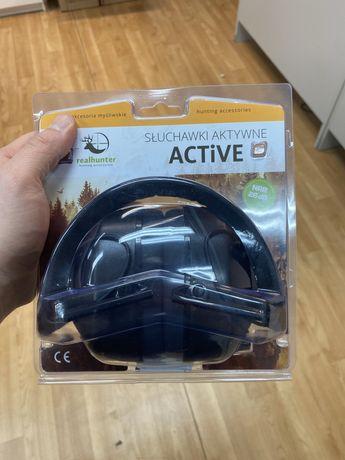 Słuchawki aktywne strzeleckie real hunter