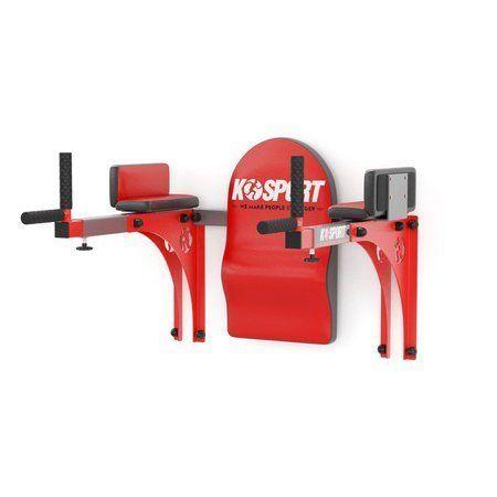 Poręcze ścienne regulowane do brzuszków/dipów do 200 kg KSSL015