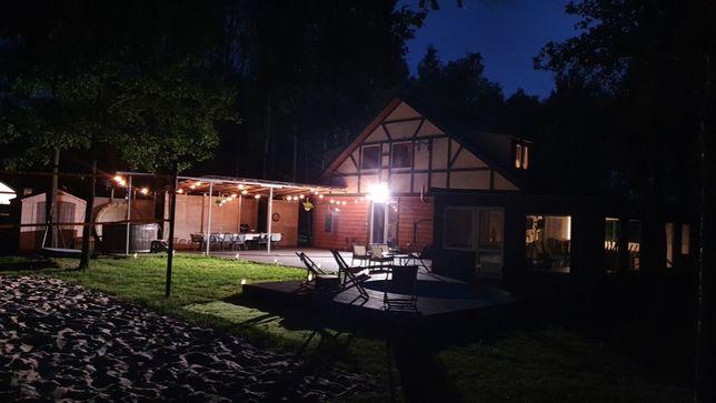 Dom w lesie basen ogrzew. imprezy sala kawalerskie urodziny 40 min wwa