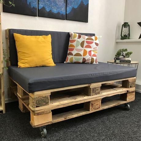 Диван из палетов, диван в стиле лофт, диван из поддонов